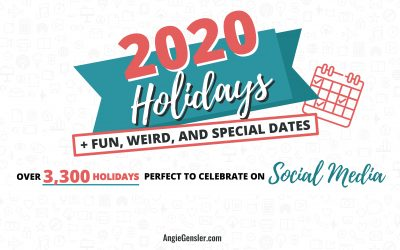 2020 & 2021 Holidays + Fun, Weird and Special Dates