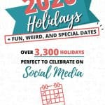 2020 Holidays + Fun, Weird And Special Dates Pinterest Image