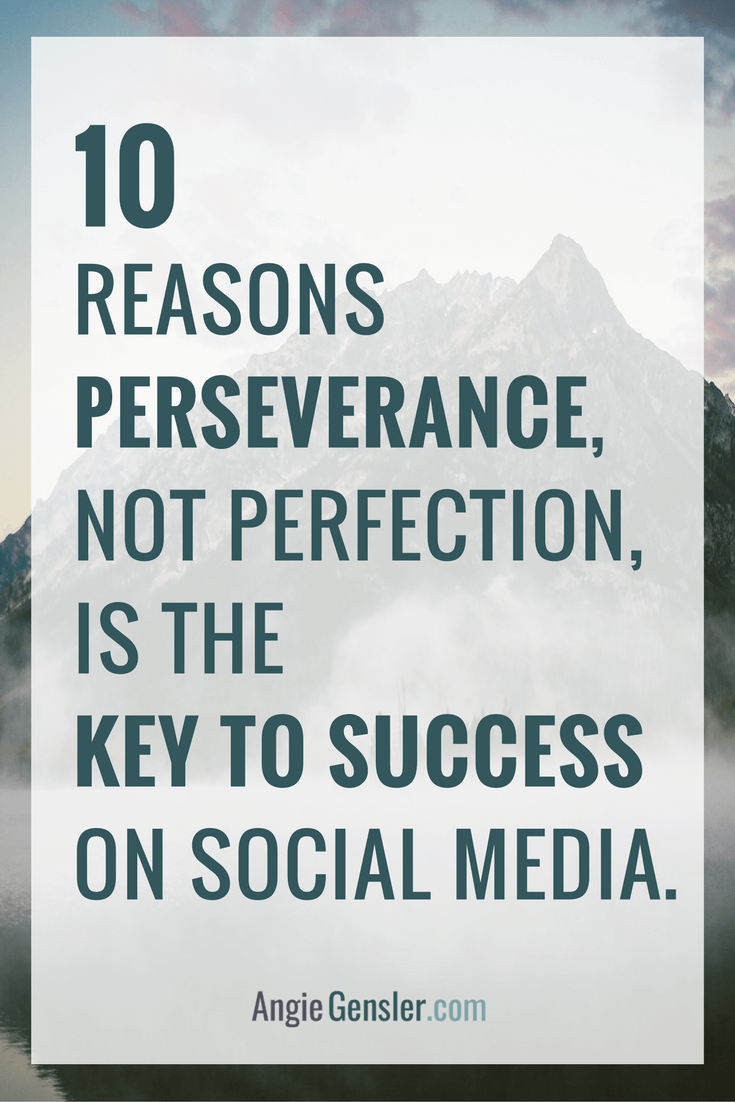 Perfection is the enemy of success