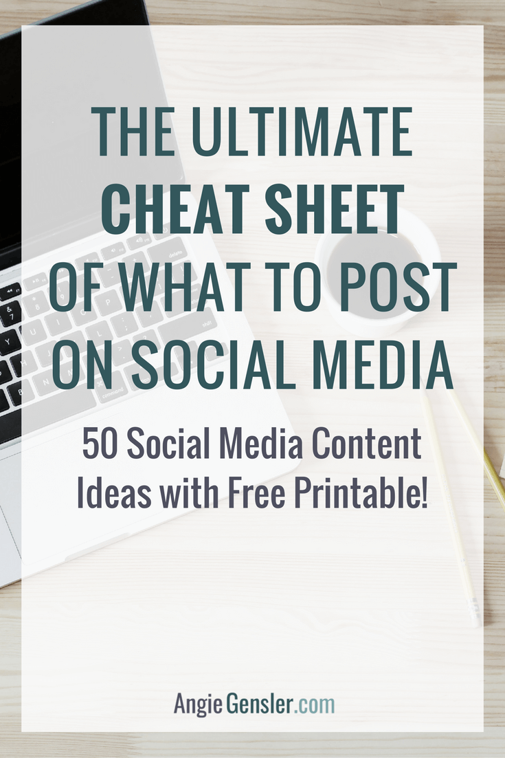 50 Social Media Content Ideas - The Ultimate Cheat Sheet