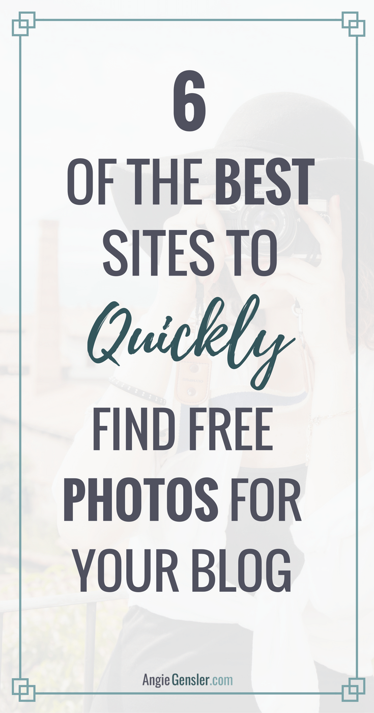 As a new blogger or business owner, time is limited. Here are 6 of the best websites to quickly find free photos for your blog and social media updates.