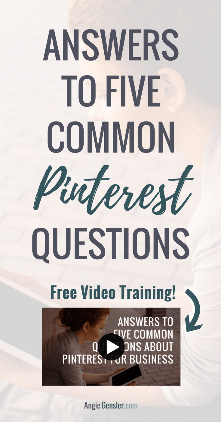 Are you confused about Pinterest? This video training answers 5 Common Questions New Bloggers and Business Owners Have about Pinterest.
