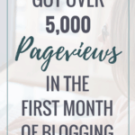 How I got over 5,000 pageviews first month blogging