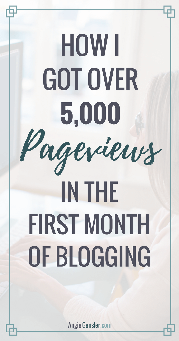 Blog traffic report: the tips + tools that generated 5,344 pageviews and 543 email subscribers my first month blogging.