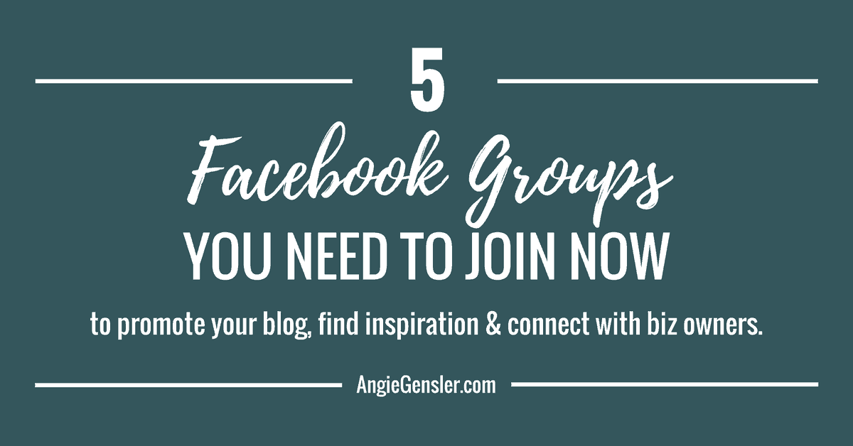 9 Facebook Groups You Need to Join Now to Grow Your Business