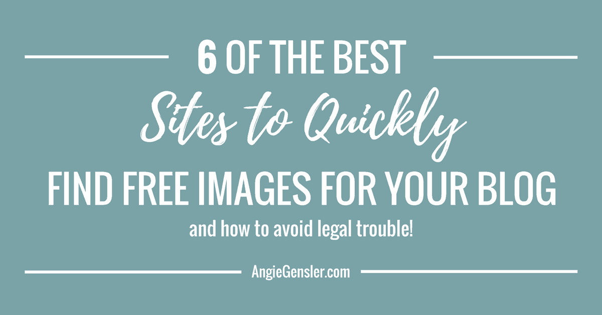 6 Best Websites to Quickly Find Free Images for Your Blog