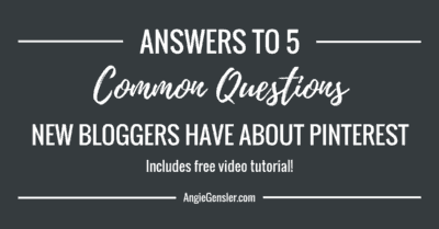 Answers to 5 common questions new bloggers have about Pinterest_FB