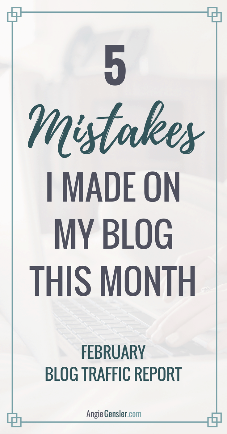 I'm sharing 5 mistakes I made on my blog this month. Learn from me and avoid these mistakes on your own blog.