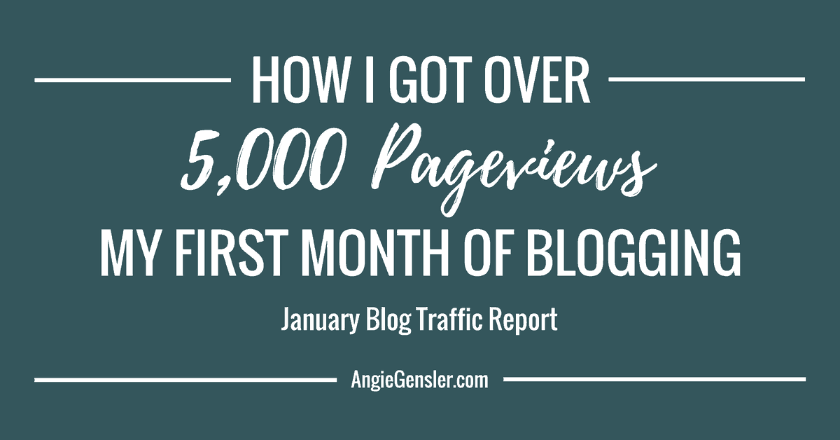January 2017 Blog Traffic Report