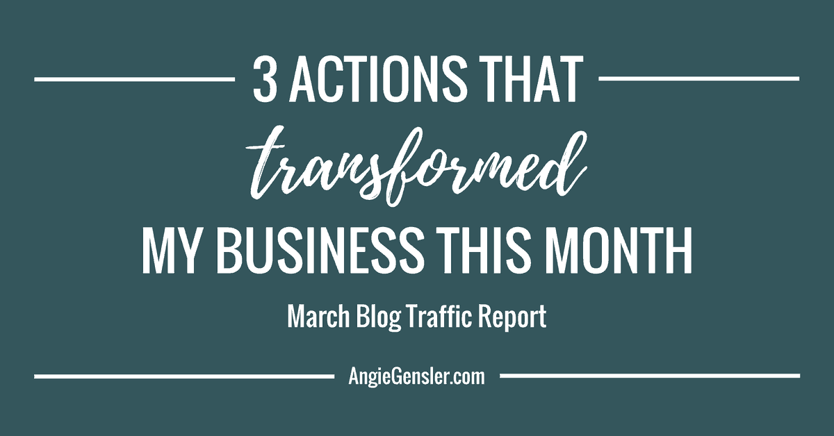 3 Actions That Transformed My Business