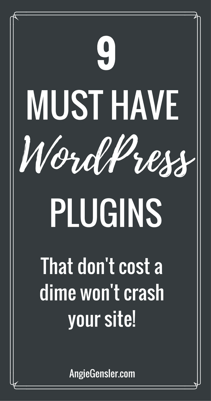 These 9 WordPress plugins are essential for new bloggers and business owners. And, they're all free!