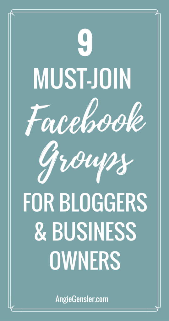 9 Must join facebook groups for bloggers
