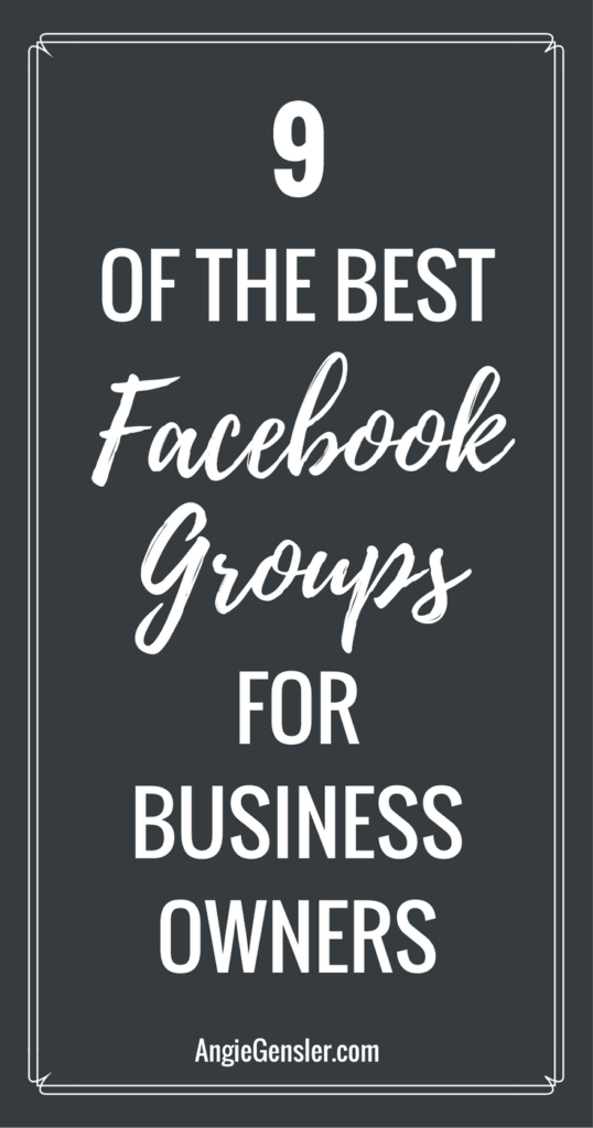 9 of the best facebook groups for business owners