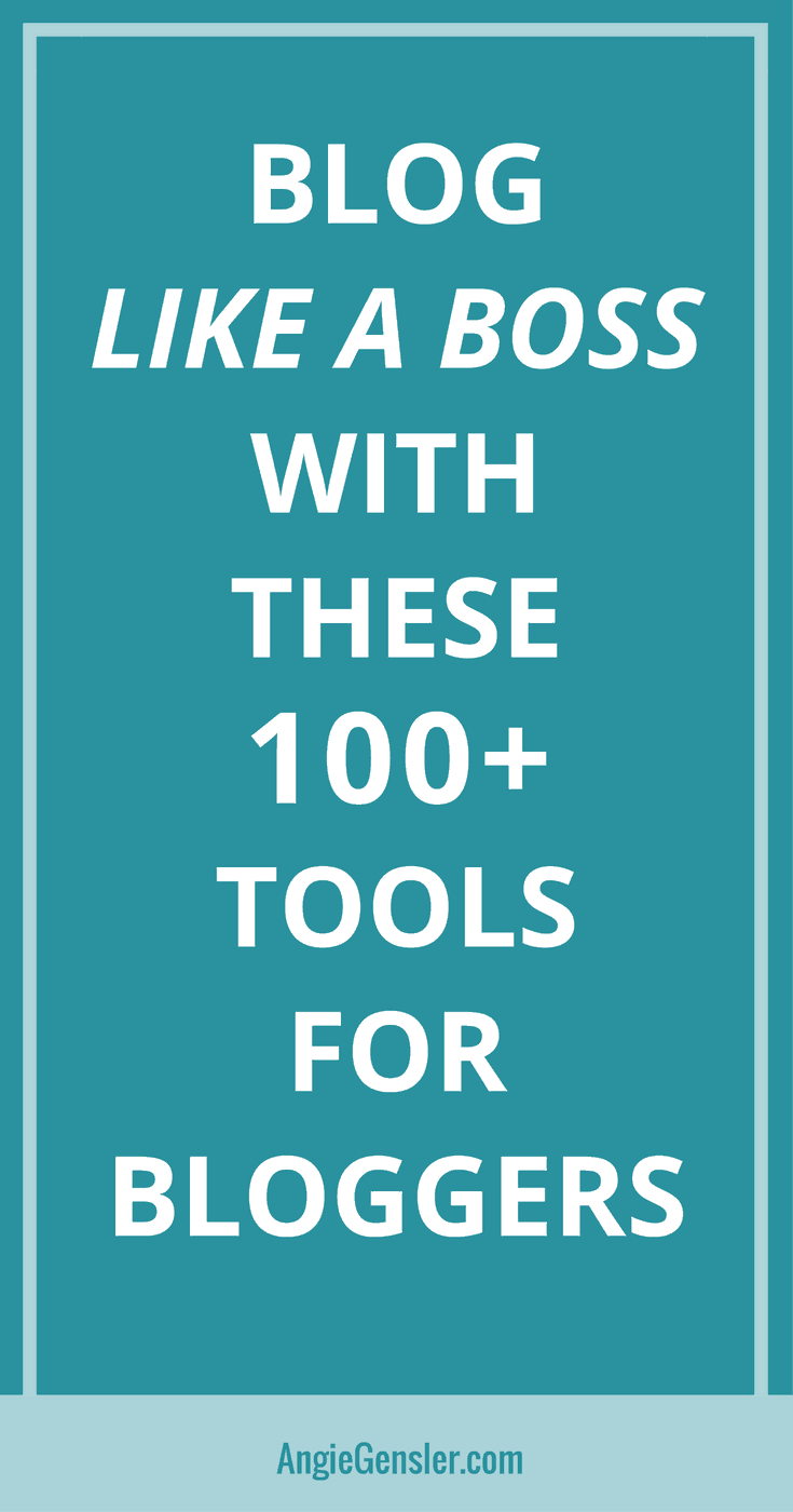 The Ultimate List of 100+ Blogging Tools to Help You Blog Like a Boss in 2018. This list covers resources for all levels of blogging experience and type. #blogging
