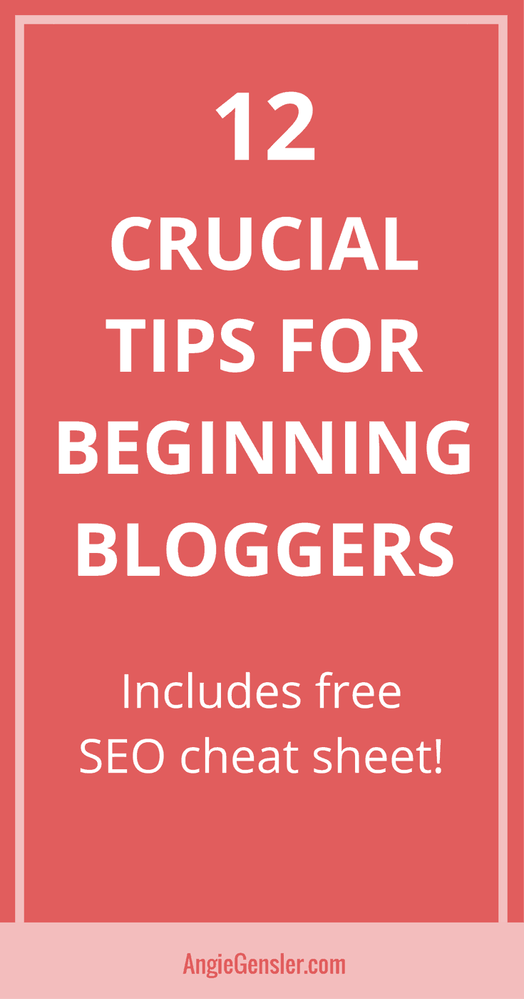 Blogging tips for beginners with free seo cheat sheet