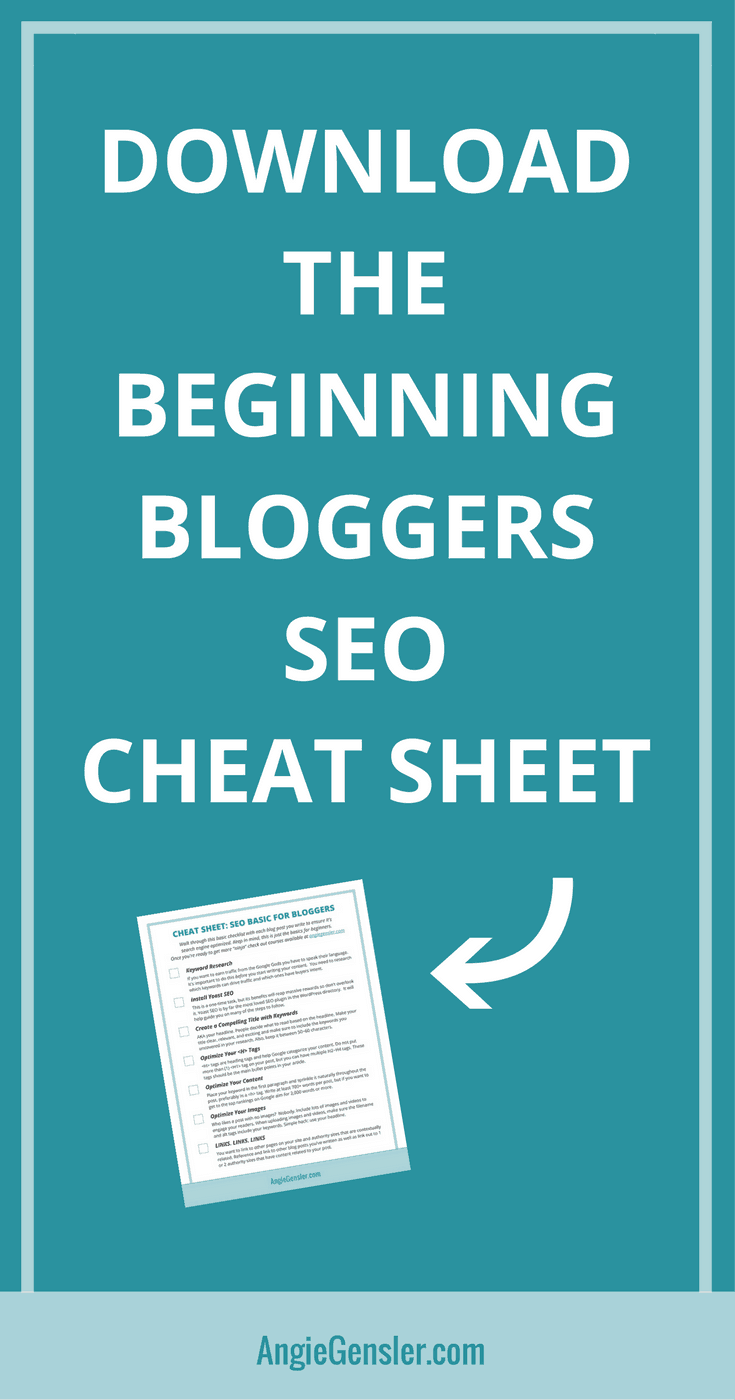 Download the beginning bloggers SEO cheat sheet