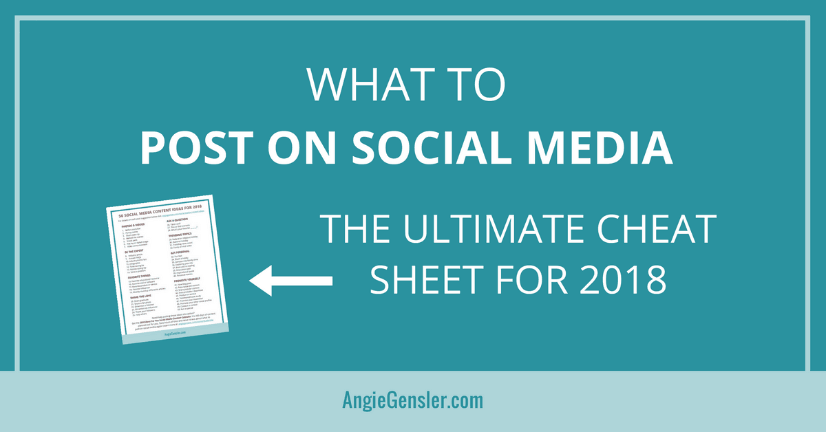 50 Social Media Content Ideas – The Ultimate Cheat Sheet