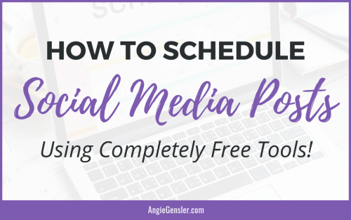 How to Schedule Social media Posts using completely free tools