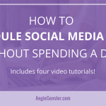 How to Schedule Social Media Posts Without Spending A Dime