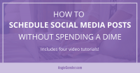 How to schedule social media posts