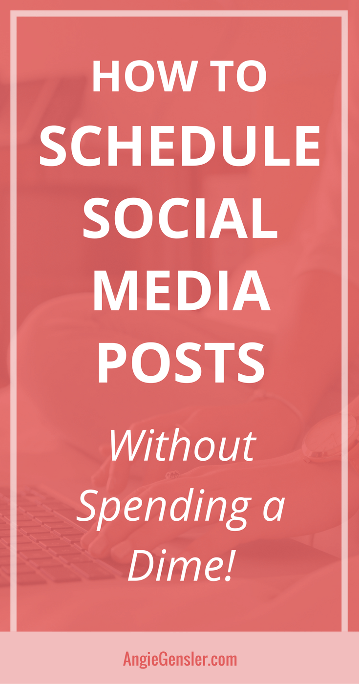 How to schedule social media posts-Pin
