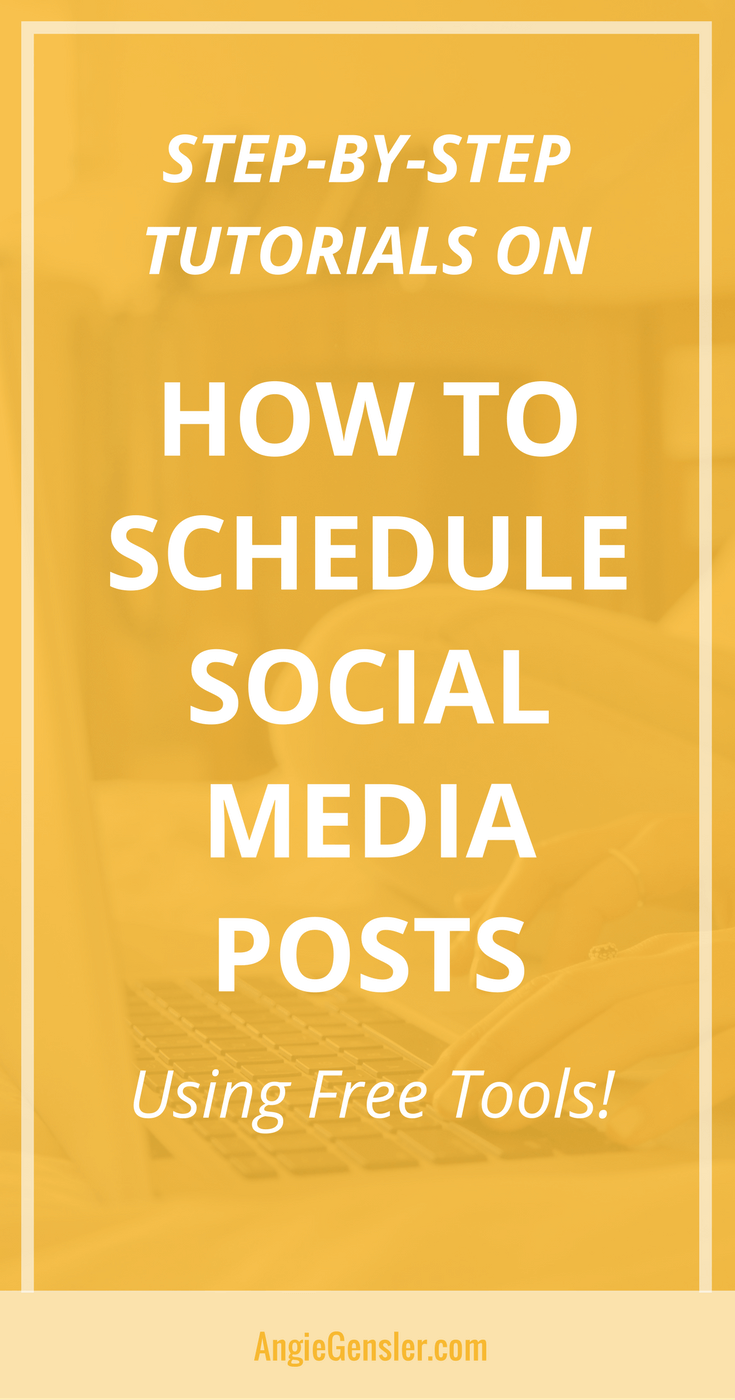 How to schedule social media posts-Pin4