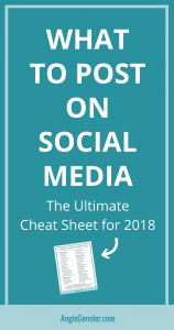 What to Post on Social Media The Ultimate Cheat Sheet for 2018