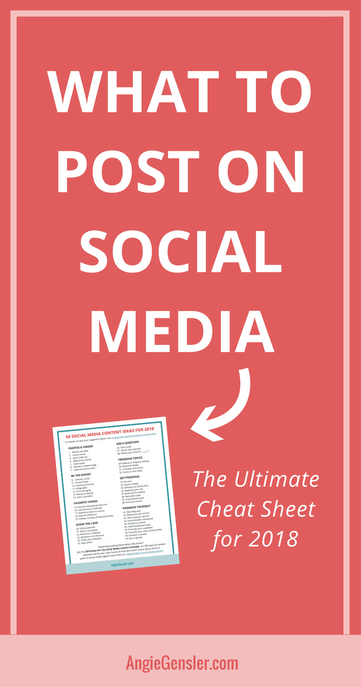What to Post on Social Media in 2018