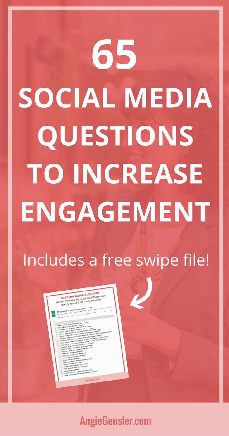 65 Social Media Questions To Increase Engagement Angie