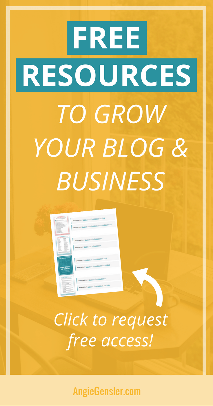 Free resources to grow your blog and business