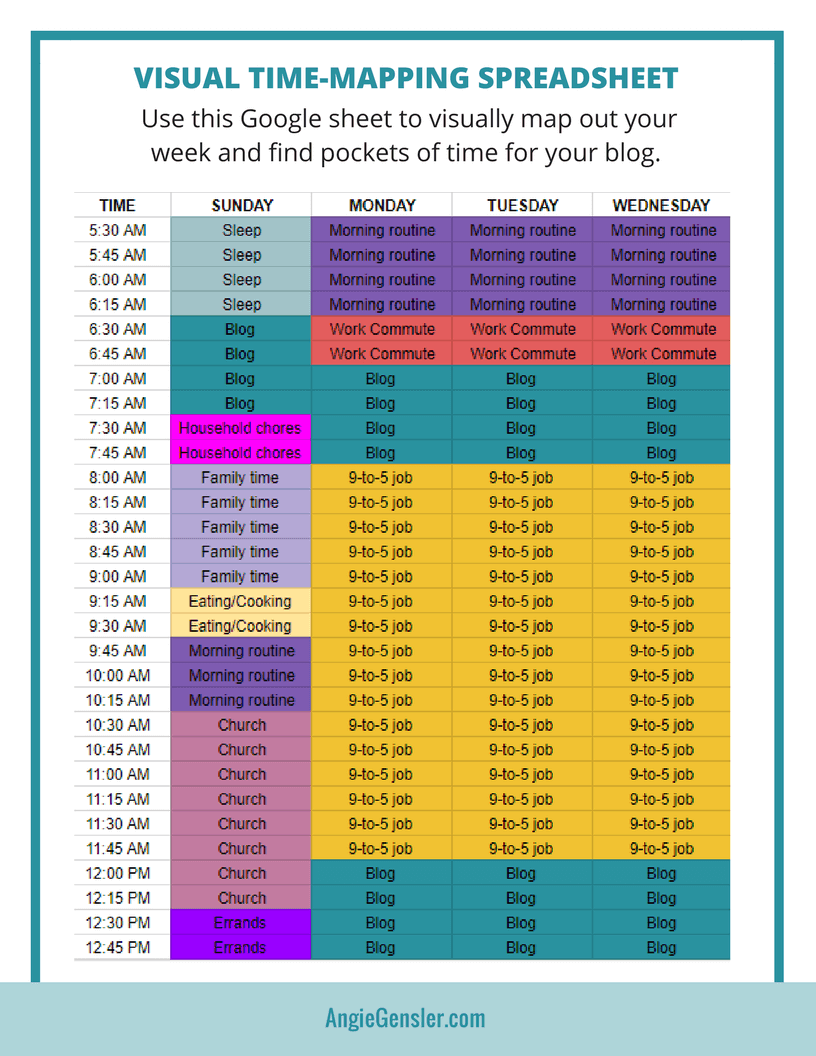 Time Mapping Freebie