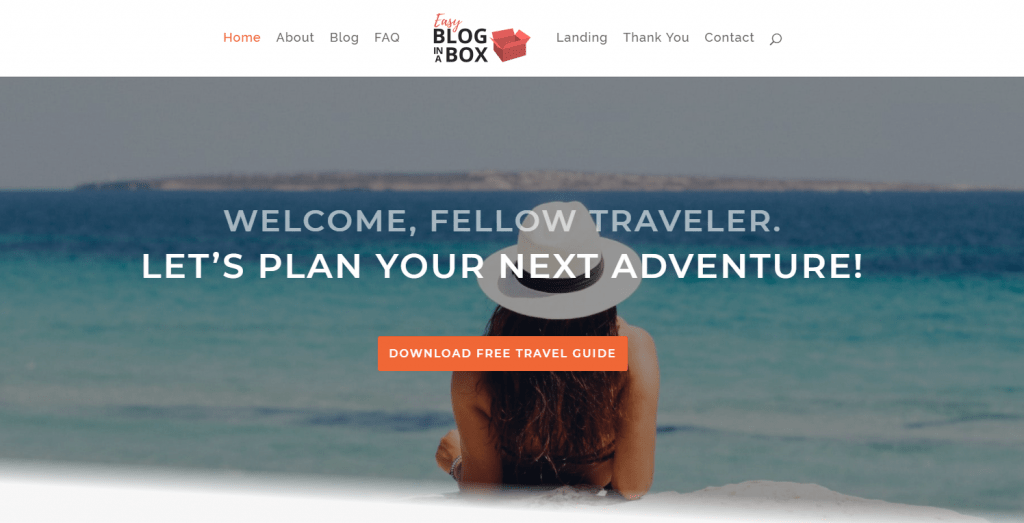Easy Blog in a Box Home Page