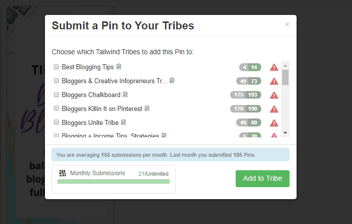 Submit to Tailwind Tribes