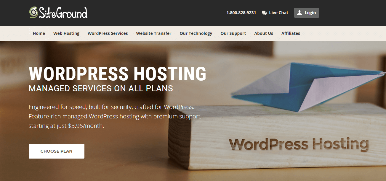 WordPress Hosting - SiteGround