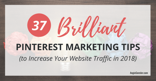 37 Brilliant Pinterest Marketing Tips