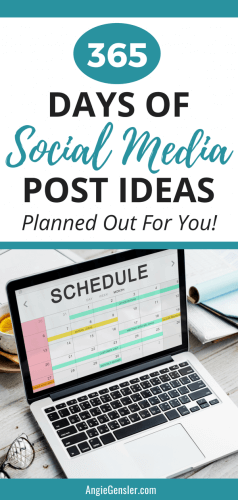365 Days of Social Media Post Ideas
