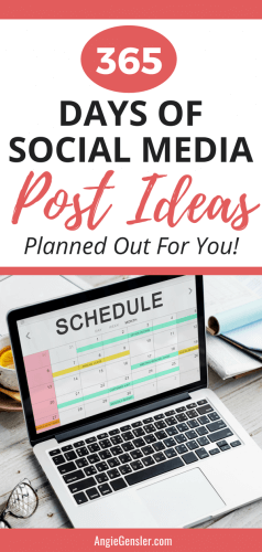 365 Days of Social Media Post Ideas Planned out For You