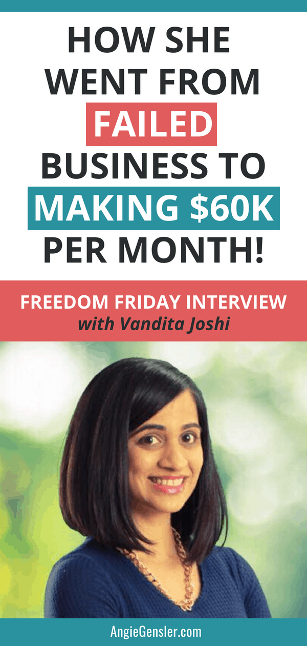 How she went from failed business to making $60k per month