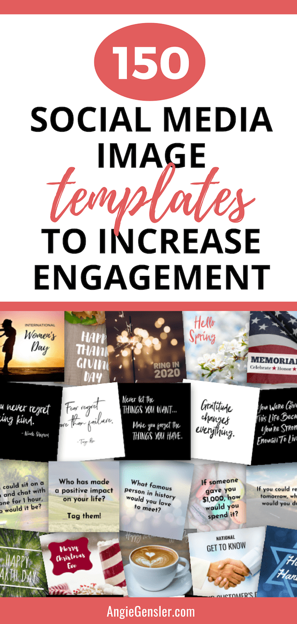 150 social media image templates to increase engagement