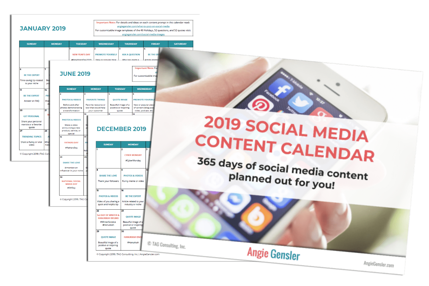 The Complete Calendar Of Social Media Holidays For 2019 Angie Gensler