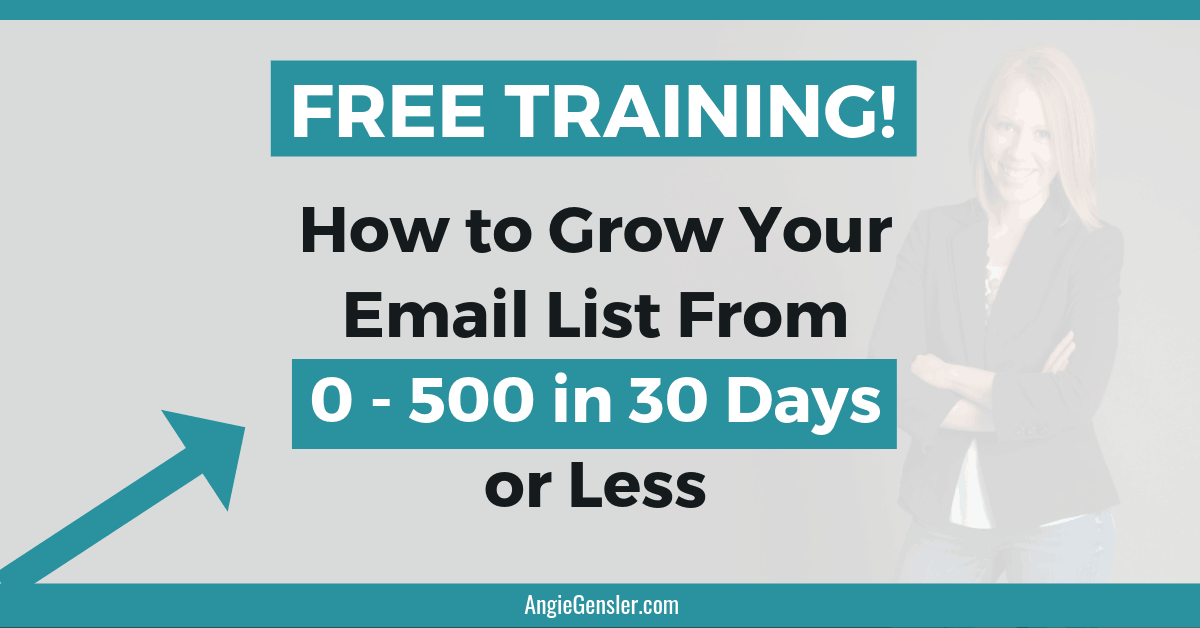 Free Training How to Grow Your Email List From 0 - 500 in 30 Days or Less