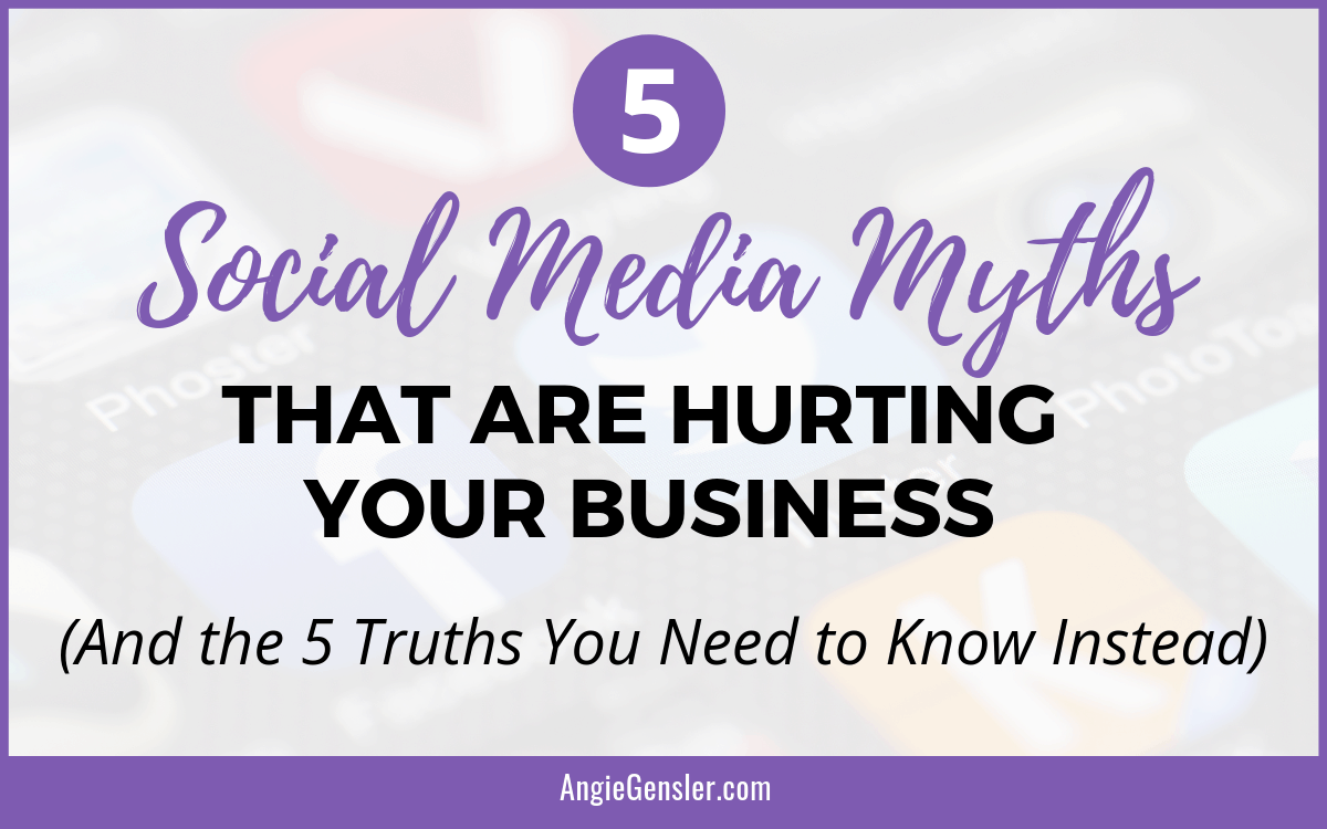 5 Social Media Myths that are hurting your business