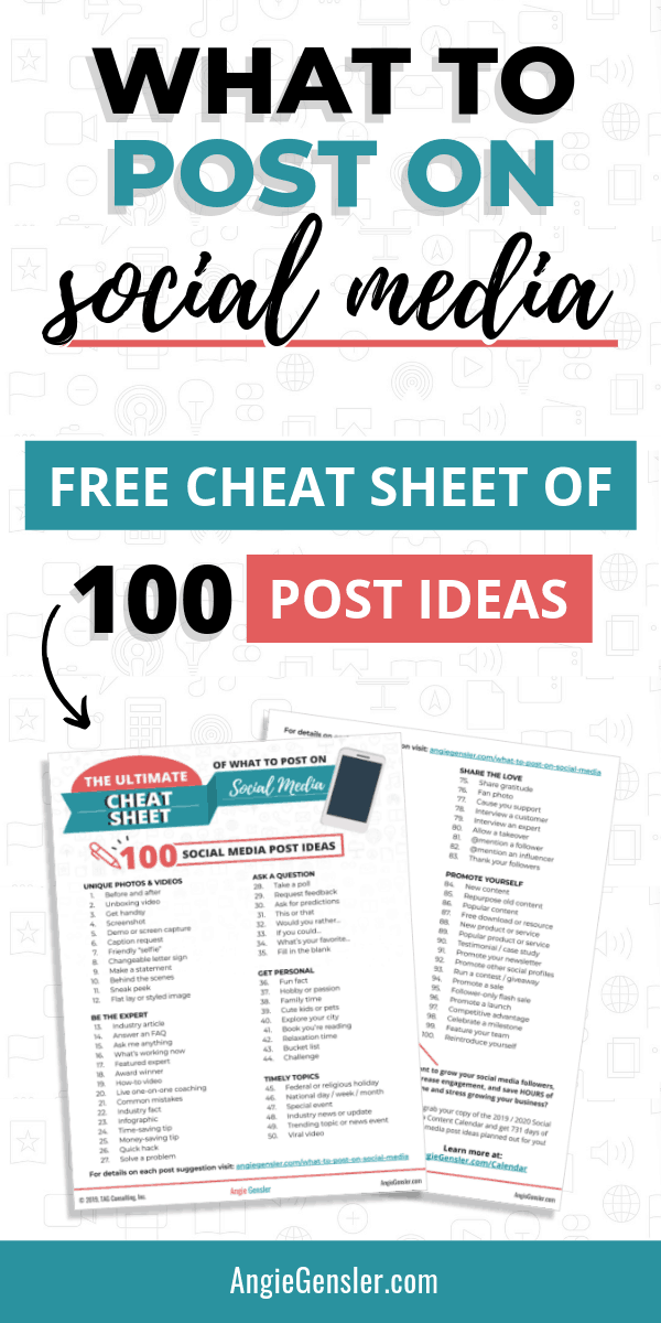 What To Post On Social Media 100 Social Media Post Ideas