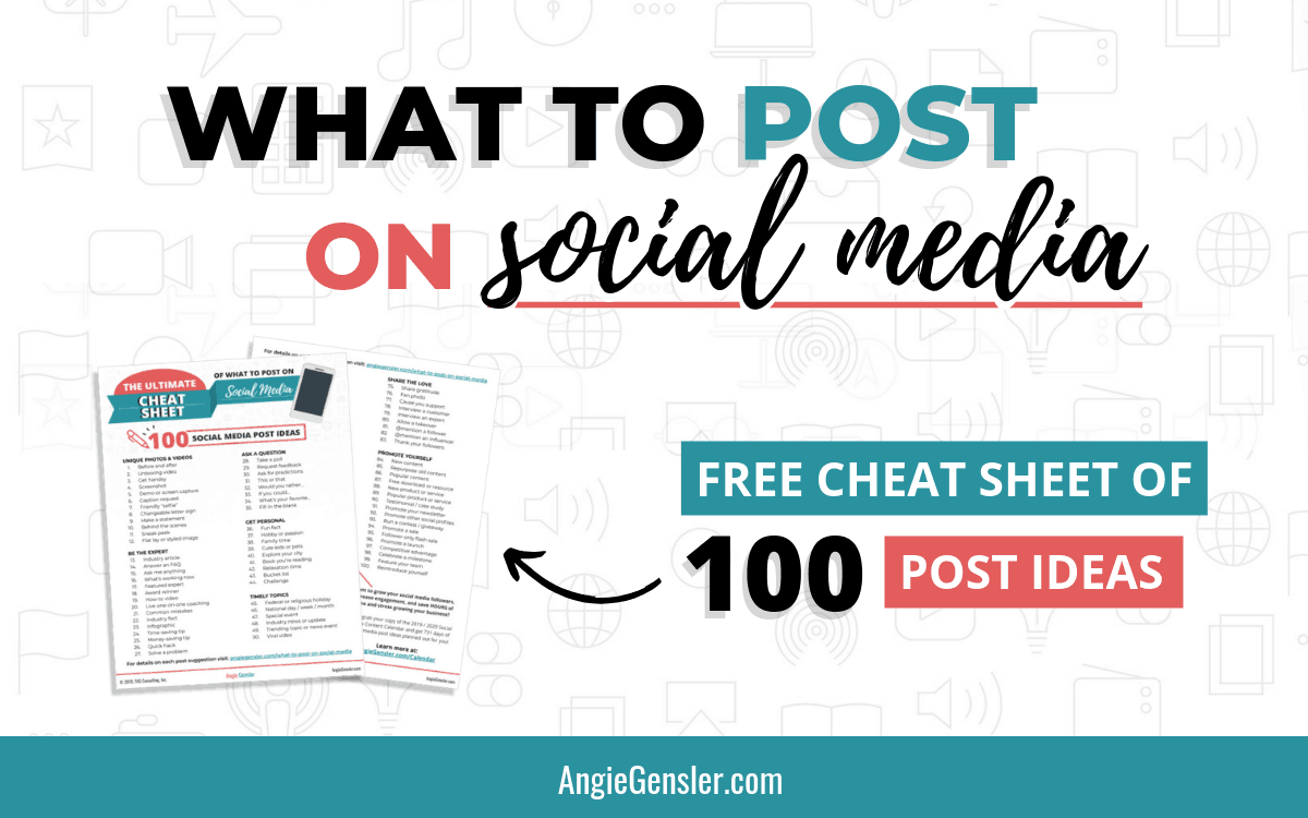 What to Post on Social Media - The Ultimate Cheat Sheet for 2020