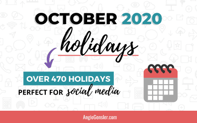October 2020 Holidays + Fun, Weird and Special Dates
