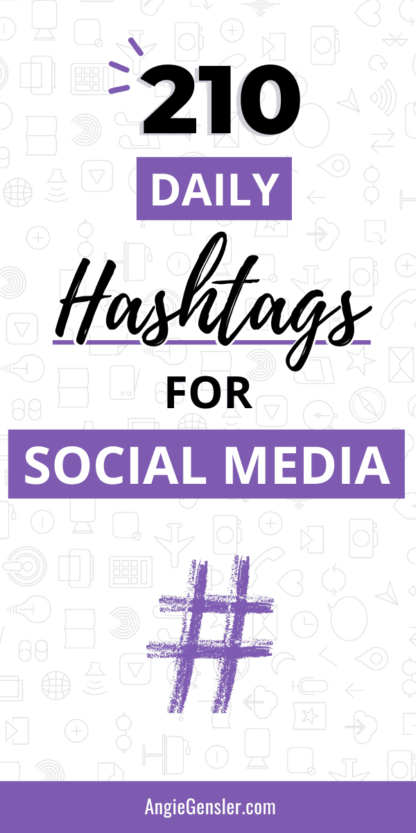 Daily Hashtags For Social Media Pinterest Image