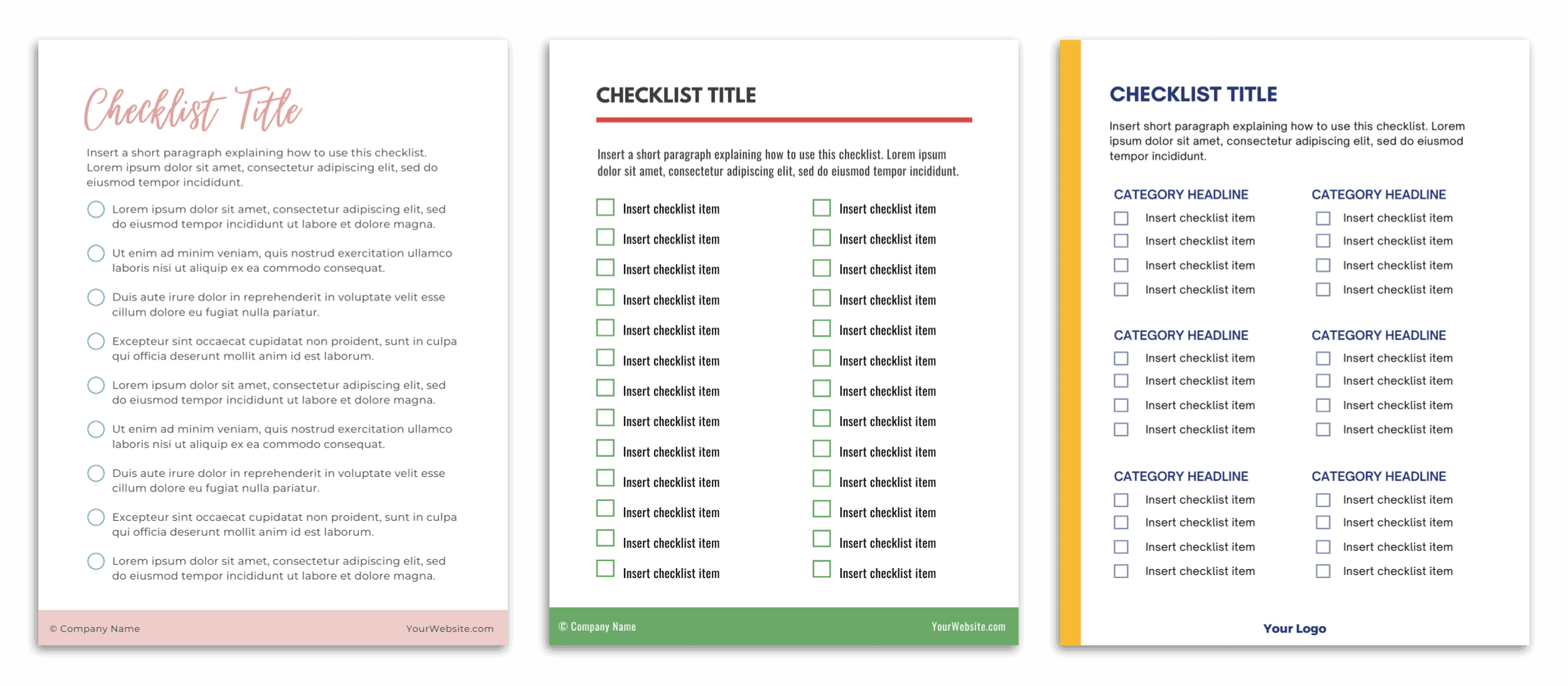 Email Opt In Template Checklist