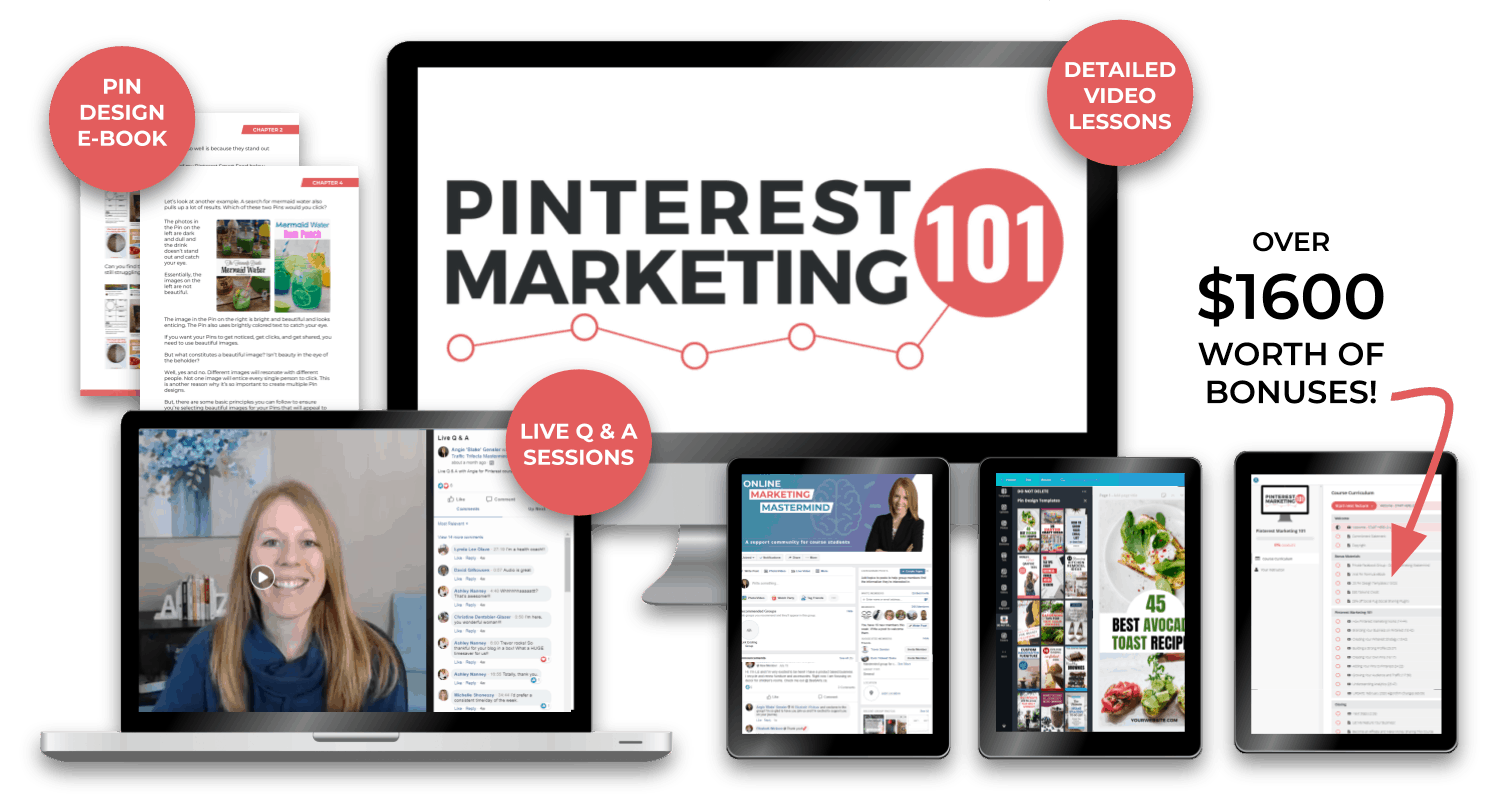 Pinterest Marketing 101 Course Image
