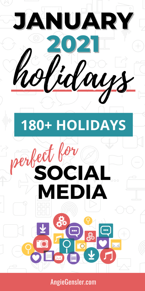 January 2021 Holidays Pinterest