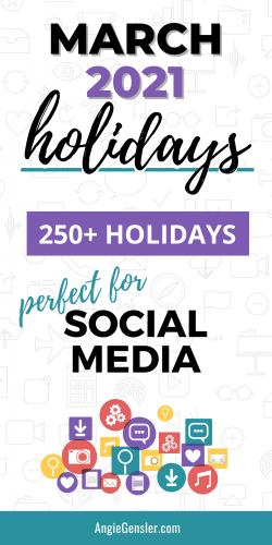 March 2021 Holidays Pinterest